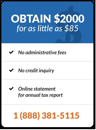 Obtenez 2000 $ pour aussi peu que 85 $